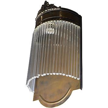 Wandleuchter Wandlampe Glas Messing Jugendstil Lampe Art Deco