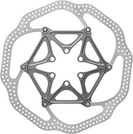 SRAM CenterLine 2-Piece 140mm 6-bolt Rounded Edge Rotor with 6 Steel Rotor