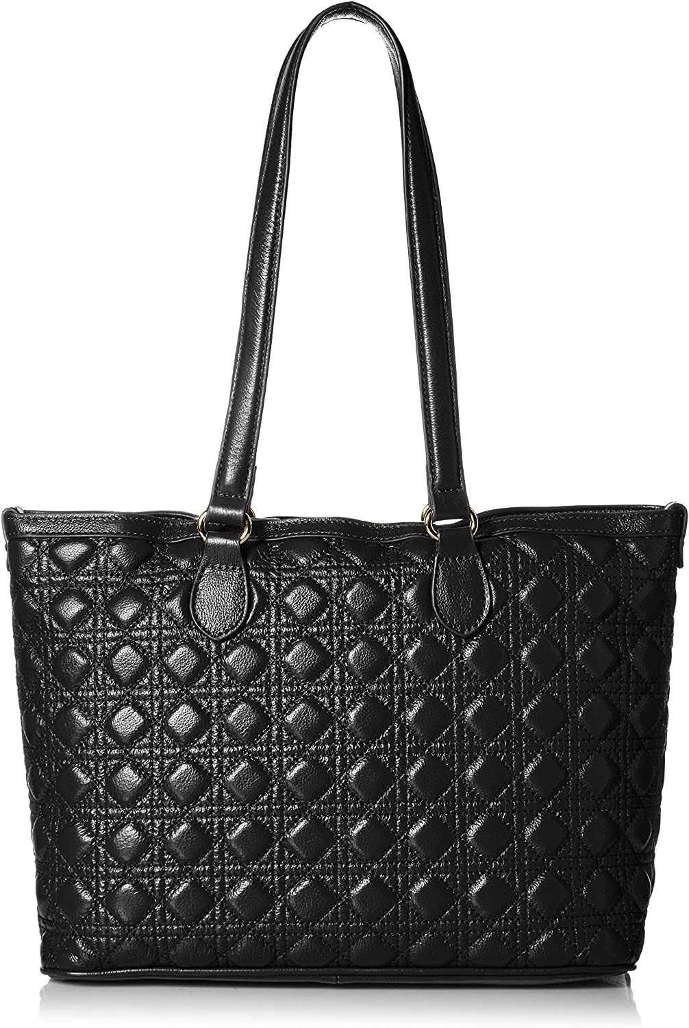 Black Zenith Womens Diamond Quilted Tote