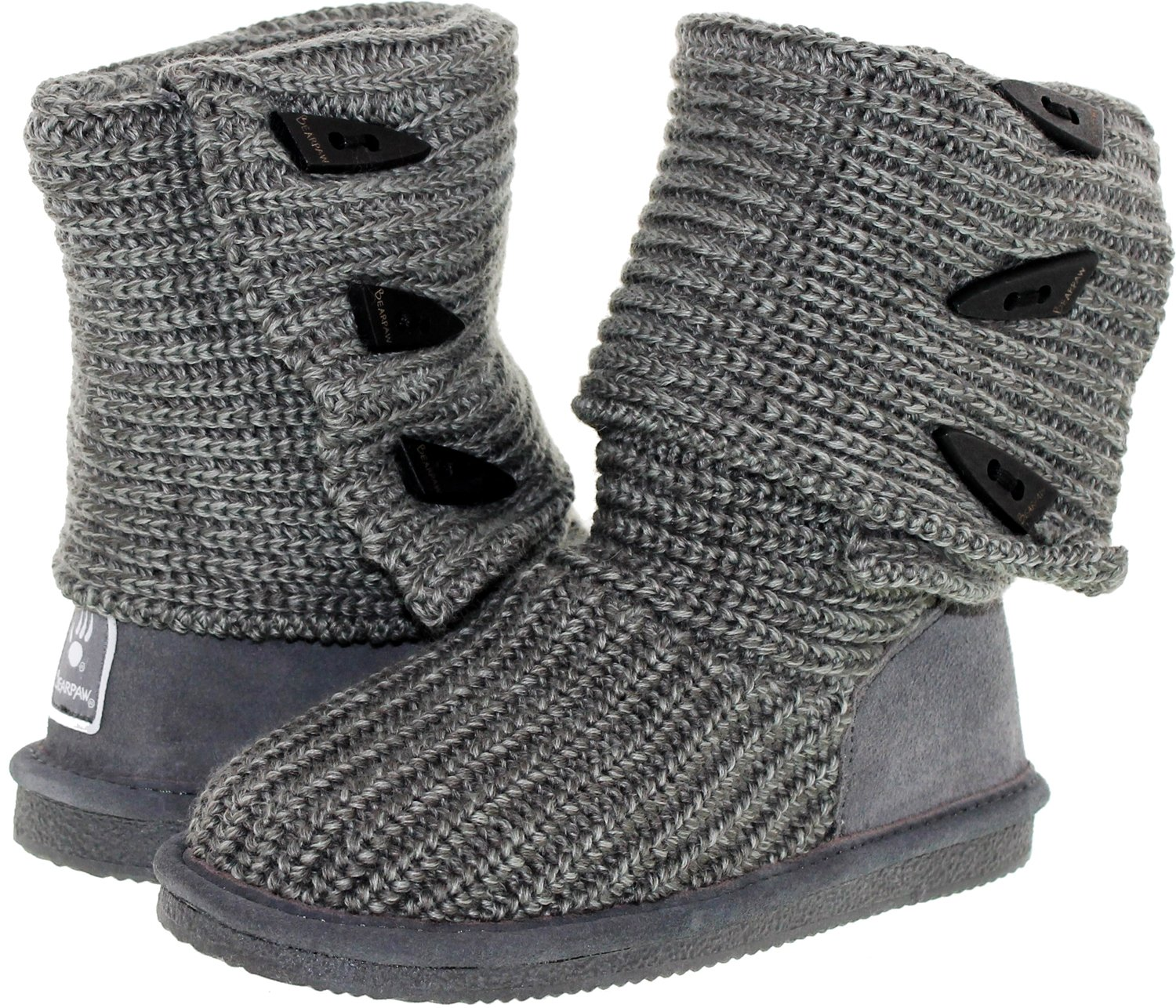 BEARPAW Women's Knit Tall B077W4FMQC 41 M EU / 10 B(M) US|Gray
