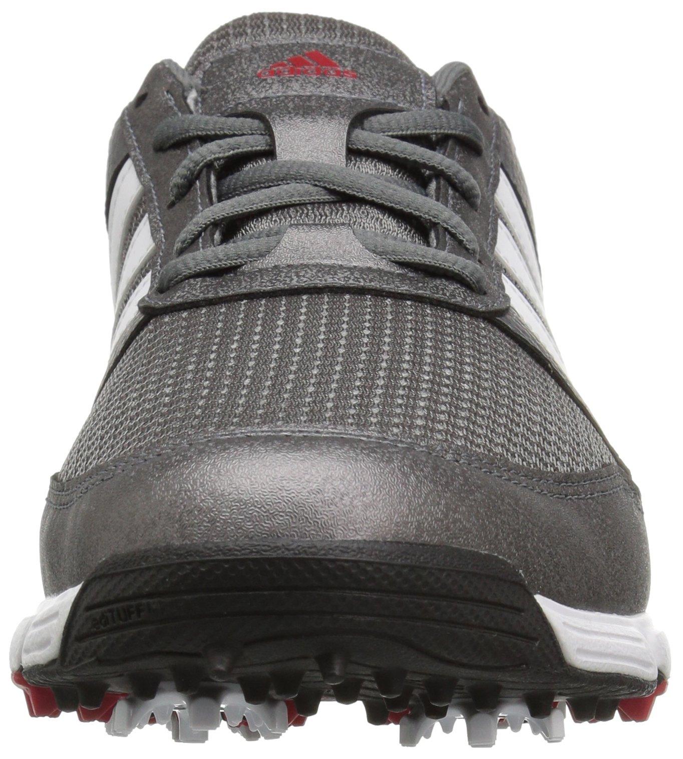 adidas Men's Tech Response Golf Shoe, Iron Metallic/White, 8.5 W US by adidas (Image #4)