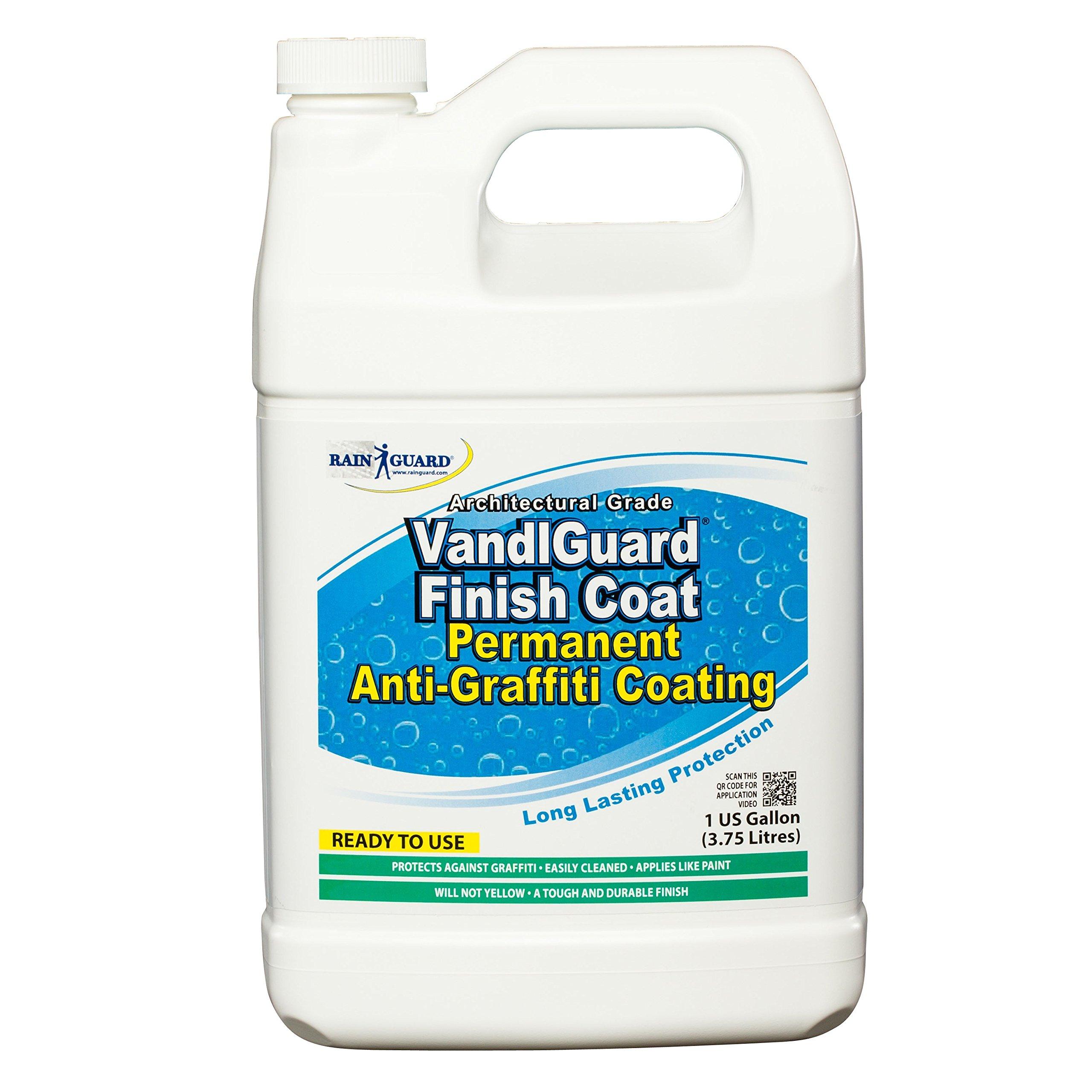 Rainguard International VG-7009 Vandlguard Finish Coat Anti-Graffiti Coating Ready to Use 1 gal, Clear, Pail