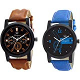 Om Designer Analogue Multicolor Dial Men's & Boy's Watch Combo Pack of 2 ATC-MIo8956