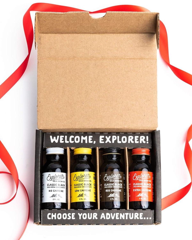 Explorer Gift Pack   Cold Brew Super Concentrate   4 Caffeine Level Sampler
