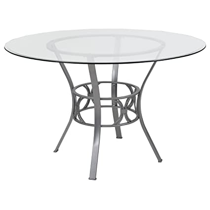Amazon.com - Flash Furniture Carlisle 48\'\' Round Glass Dining Table ...