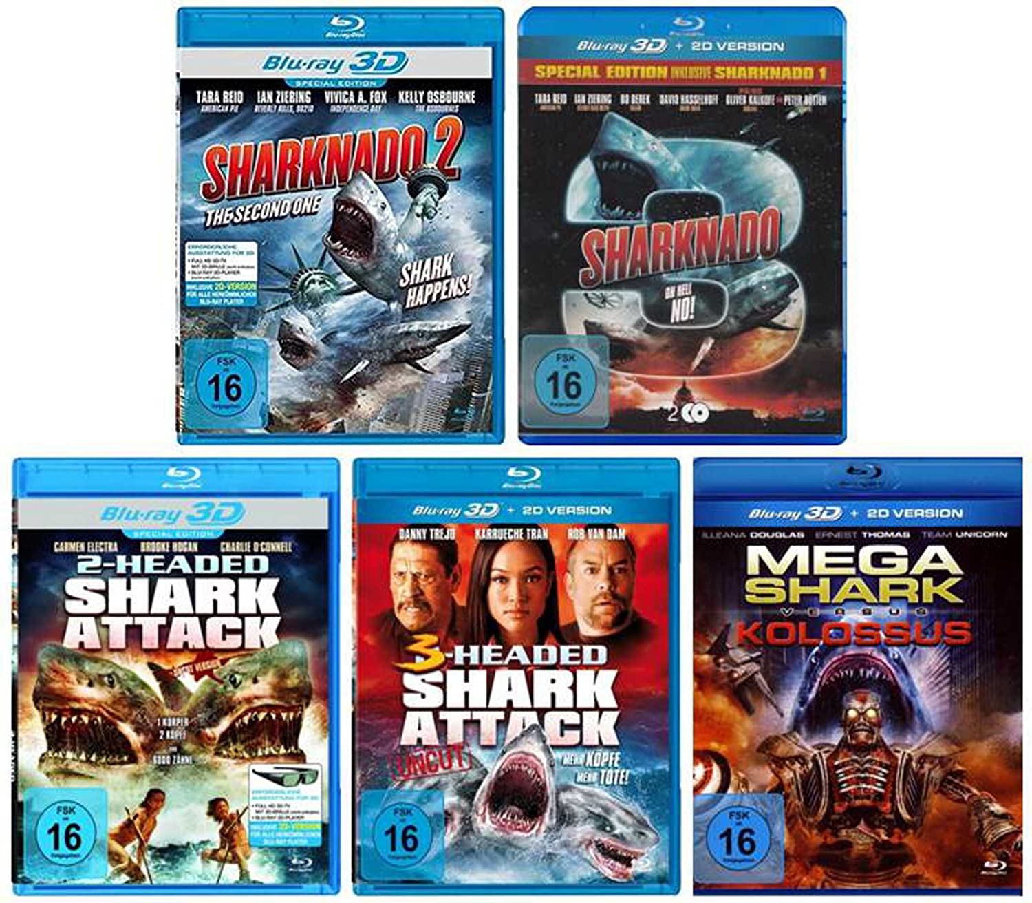 Best of Shark Collection - 3D Blu-ray incl. Sharknado 1-3 und 2+3 ...