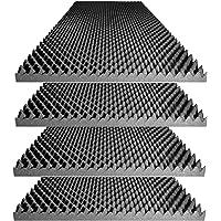 """Acoustic Foam Egg Crate Panel Studio Foam Wall Panel 48"""" X 24"""" X 2.5"""" (4 Pack)"""