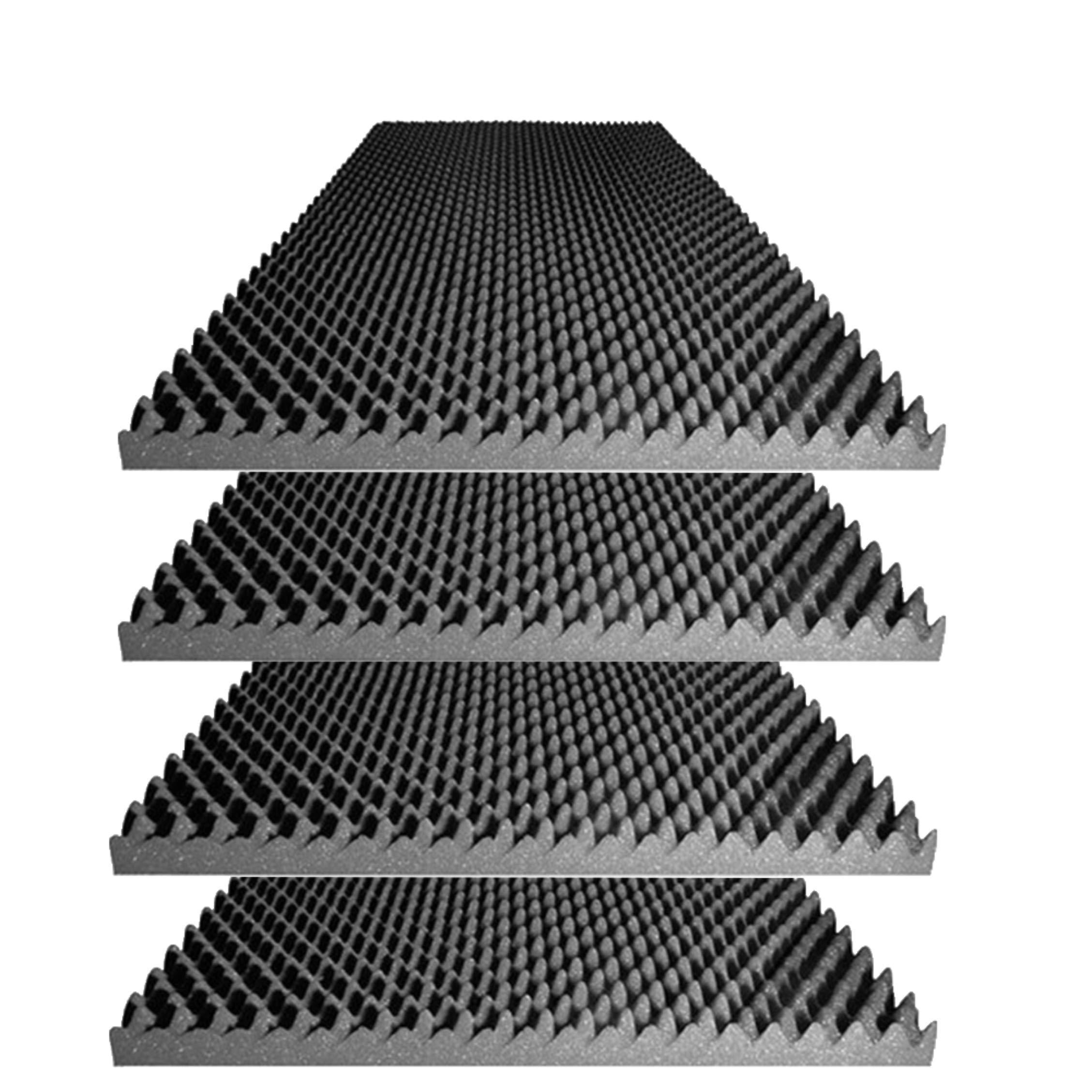 Foamily Acoustic Foam Egg Crate Panel Studio Foam Wall Panel 48'' X 24'' X 2.5'' (4 Pack)