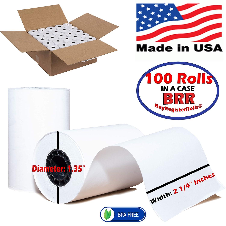 Verifone Vx680 Vx520 Thermal Receipt Paper Rolls 2 1 4 X 50 100 Rolls Bpa Free Made In Usa From Buyregisterrolls