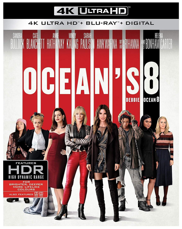 Ocean's 8 (BIL/ 4K Ultra HD) [Blu-ray] Steven Soderbergh Mike Tadross Susan Ekins Sandra Bullock