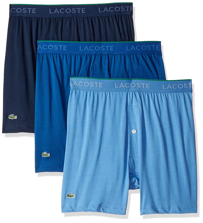 Lacoste Men's 3 Pack Supima Cotton Boxer Brief Lacoste Men' s Underwear