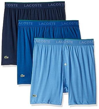 da1c6042868365 Lacoste Men s Cotton Knit Boxer Underwear
