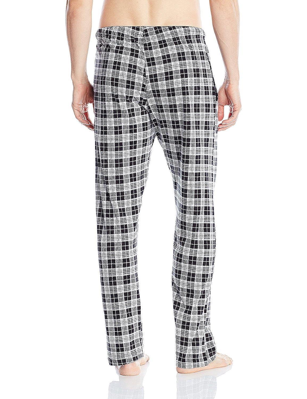 Hanes Men's Drawstring Tagless Cotton Knit Lounge Sleep Pants Fly /& Pockets
