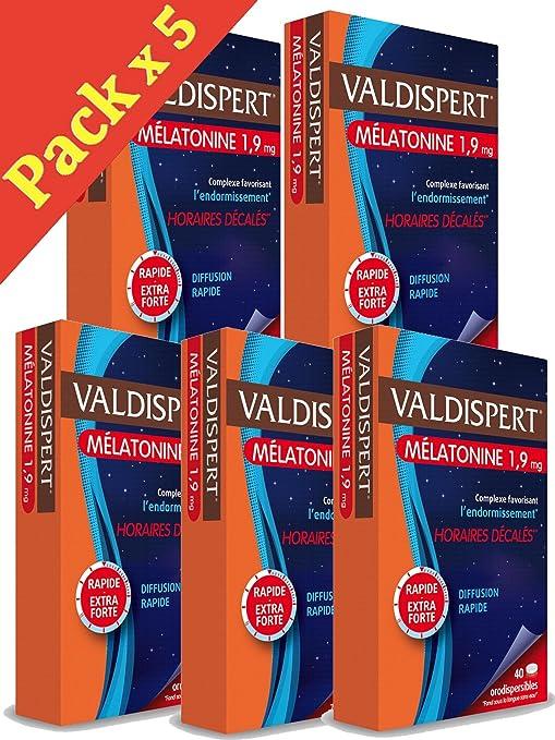 Valdispert - Cápsulas de melatonina 1,9 mg - Para el jet lag - Ayuda
