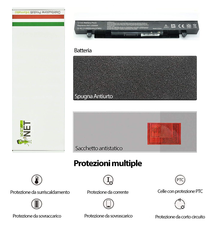 Batería Newnet para Asus 14,4 – 14,8 V 2600 mAh X452E X452EA ...