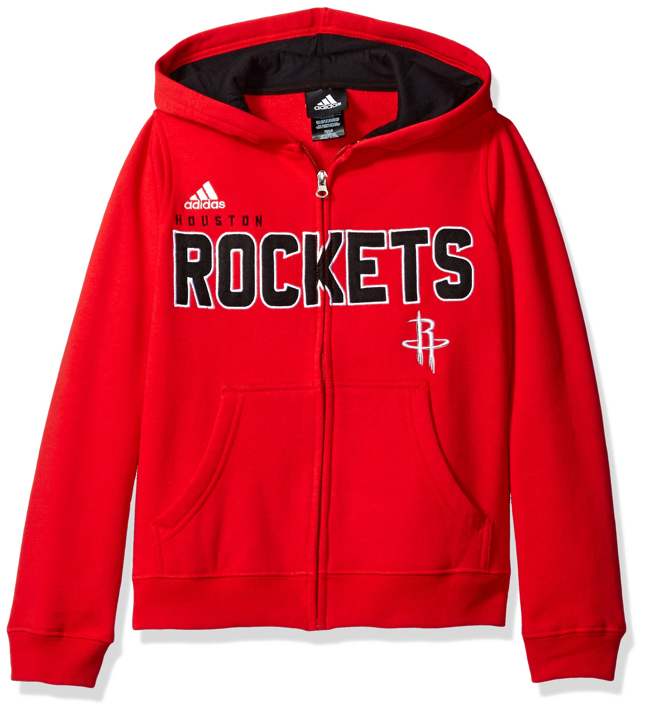 97fb1a74dd5 Galleon - NBA Youth 8-20 Houston Rockets Stated Full Zip Hoodie -Black-S(8)