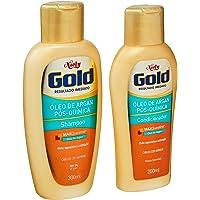 Kit Shampoo e Condicionador 300Ml Óleo Argan Unit, Niely Gold