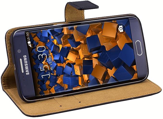 mumbi Ledertasche im Bookstyle für Samsung Galaxy S6 Edge Tasche