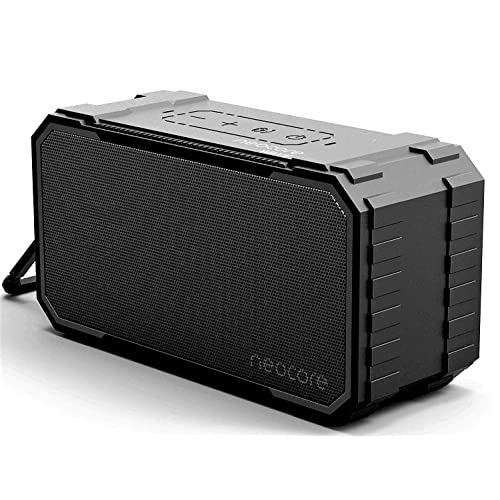 neocore WAVE A1 Portable Wireless Bluetooth Speaker 10W, 24 Hour Playtime, 20m/66ft Range, 256GB SD Card Support, Stereo Dual-Driver, Subwoofer Enhanced Bass, Waterproof