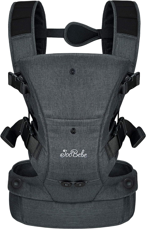 gris cadeau id/éal JooBebe Porte-b/éb/é 4 fa/çons de transporter ergonomique et confortable adapt/é /à la croissance de votre enfant coton