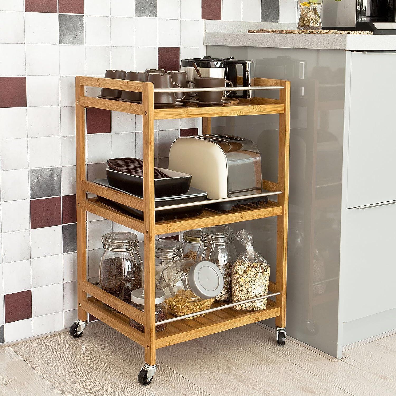 SoBuy® Estantería de cocina, carrito de cocina, estantería de baño ...