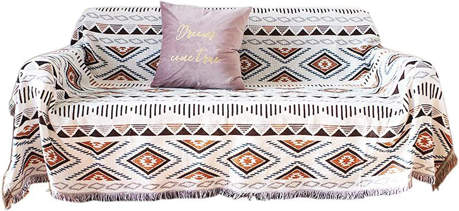 Shigen Art Boho Throw Blanket Weighted Reversible Design with Tassel Fringes for Farmhouse Decor Cotton and Microfiber Blend Perfect for Chair Sofa Living Room Bedroom Gift Wrapping
