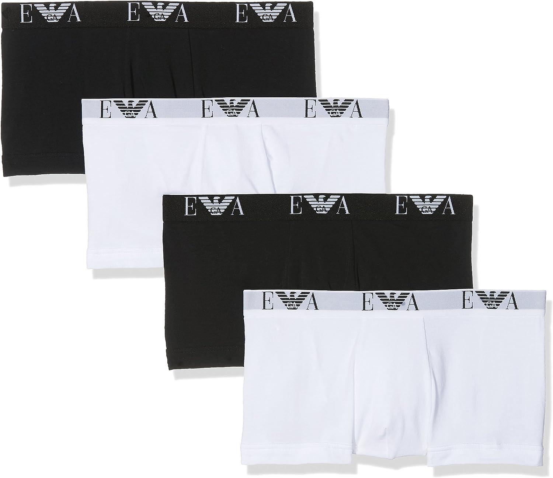 Emporio Armani Underwear 111810CC715, Bóxer Para Hombre, Pack de 4