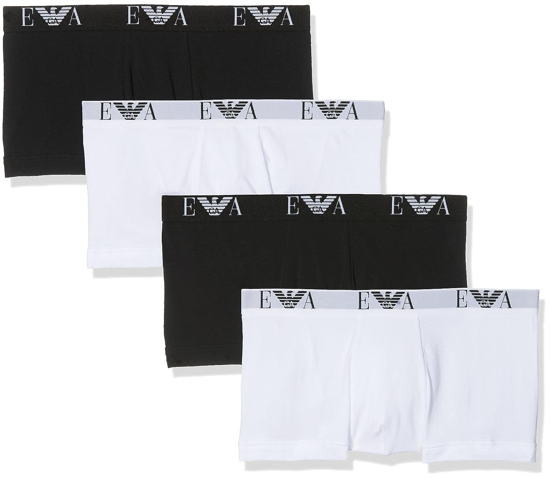 TALLA S. Emporio Armani Underwear 111810CC715, Bóxer Para Hombre, Pack de 4