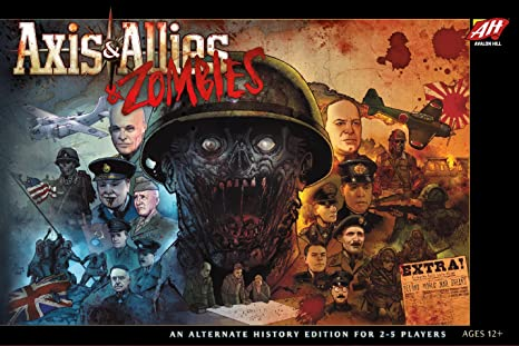 axis and allies  : Avalon Hill C50100000 Axis & Allies & Zombies, Multi ...