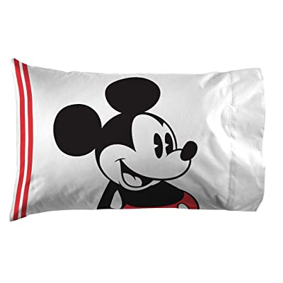 SuperHeroStuff Disney Mickey Mouse Jersey Pillow Case: Home & Kitchen