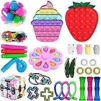 Mais recente conjunto de brinquedos sensoriais, Fidget Toys Pack para adultos e crianças, Push Bubble Pop, Fidget Toys…