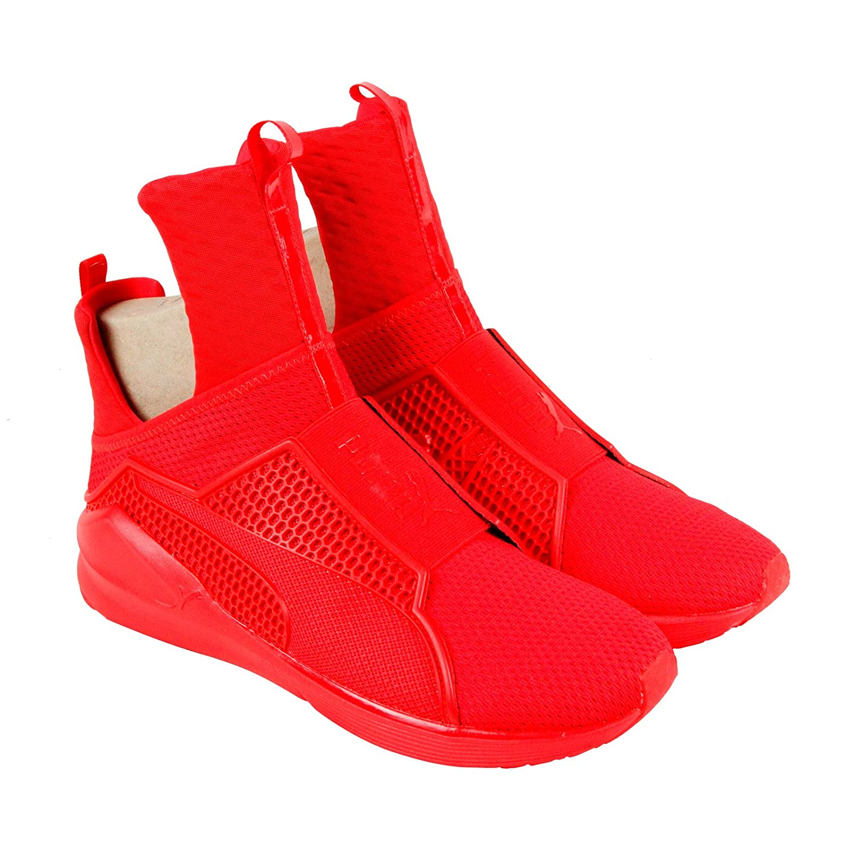 rihanna puma sneakers red