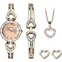 Sekonda Watches Womens Analogue Classic Quartz Watch with Rose Gold Strap 2363G.68