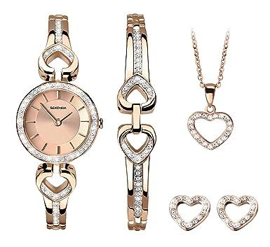 fc7a37a75f2cb8 Amazon.com: Sekonda Christmas Gift Set Watch with Heart Necklace ...