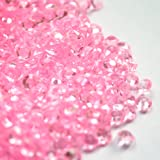 5000 CLEAR WEDDING TABLE DIAMONDS CONFETTI SCATTER CRYSTALS - HIGH QUALITY - FOR 6 TO 8 TABLES (Light Pink)