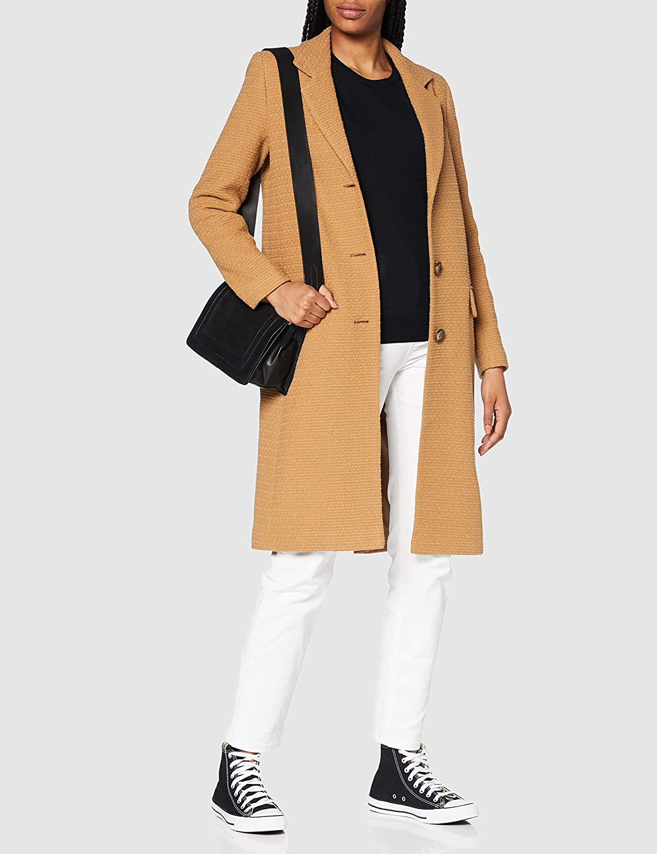 Helene Berman College Coat Cappotto di Lana Donna Brown