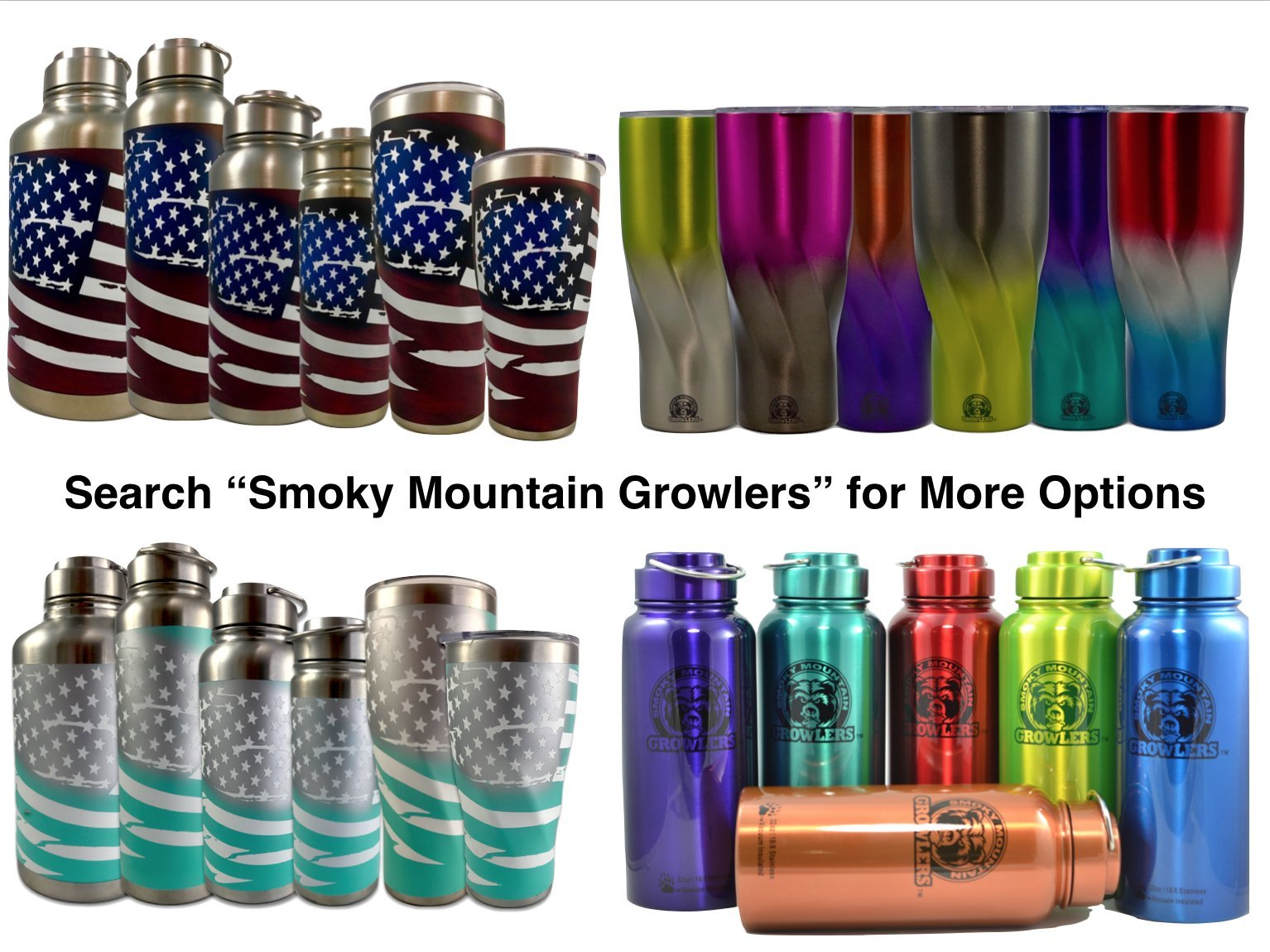Tiffany Blue Limited Edition GrowlerGal Cerakote Freedom Growlers & Tumblers by Smoky Mountain Growlers (64 ounce Bottle) by Smoky Mountain Growlers