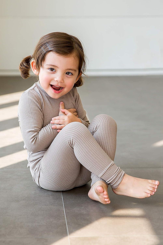 Vaenait Baby 12M-12 Kids Unisex Girls /& Boys Soft Comfy Modal Tencel Shirring Sleepwear Pajamas 2pcs Set