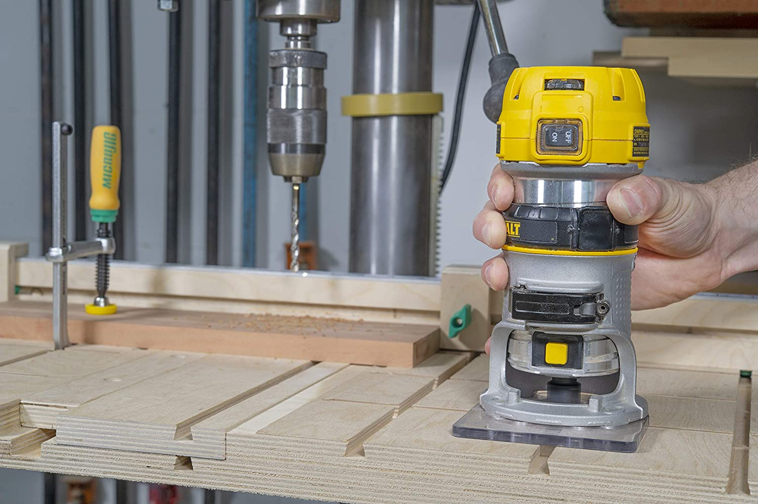 MATCHFIT Relief Router Bit 1//4 Straight Groove with 1//4 Shank Yellow
