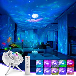 Kids Night Light Nebula Galaxy Projector,Star Cloud Moon Voice-Activated Bluetooth Music for Room Decor, Home Theater Lighting, or Bedroom Night Light Mood Ambiance,Game Room Adults