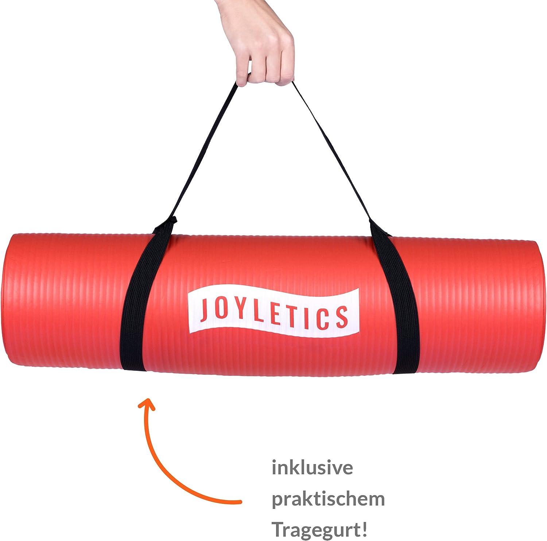 183 x 61 x 1cm Abriebfest SGS gepr/üft Pilates e-Book und Traggegurt Bodentraining f/ür Yoga Rutschfest strapazierf/ähig Joyletics Fitnessmatte /»100/« phthalatfrei