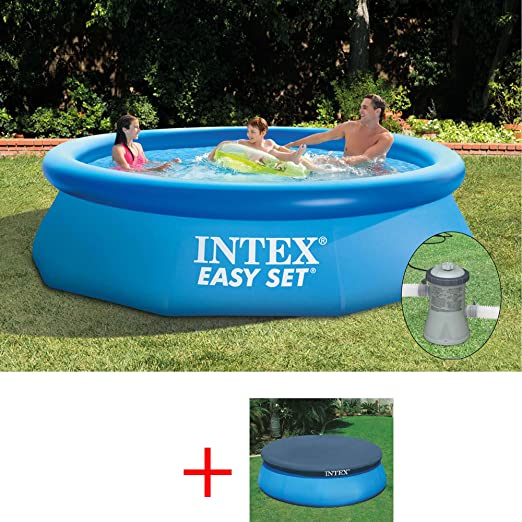 INTEX OFERTA PISCINA EASY SET 305 X 76 CM, CON FILTRO COBERTURA ...