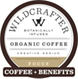 Wildcrafter Botanicals Organic Coffee K Cups - Natural Focus & Genius Brain Booster Infused with Ashwagandha & Bacopa…