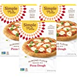 Simple Mills Almond Flour, Cauliflower Pizza Dough Mix, Gluten Free, Made with whole foods, 3 Count, (Packaging May Vary)