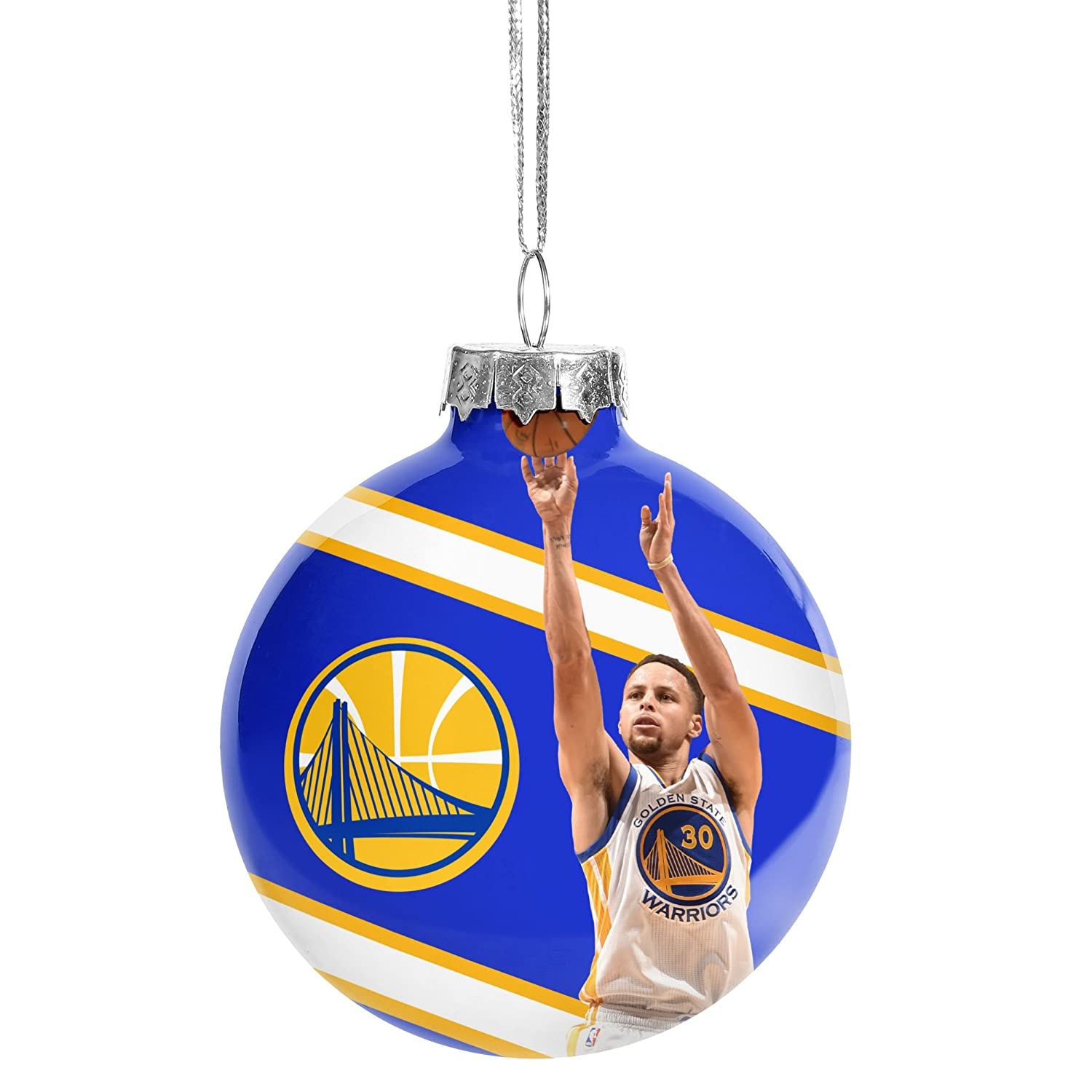 Golden State Warriors Christmas Holiday Glass Ball Image Ornament Stephen Curry #30