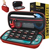 Carry Case for Nintendo Switch Lite - Portable Travel Carry Case with Storage for Switch Lite Games & Accessories [Red]