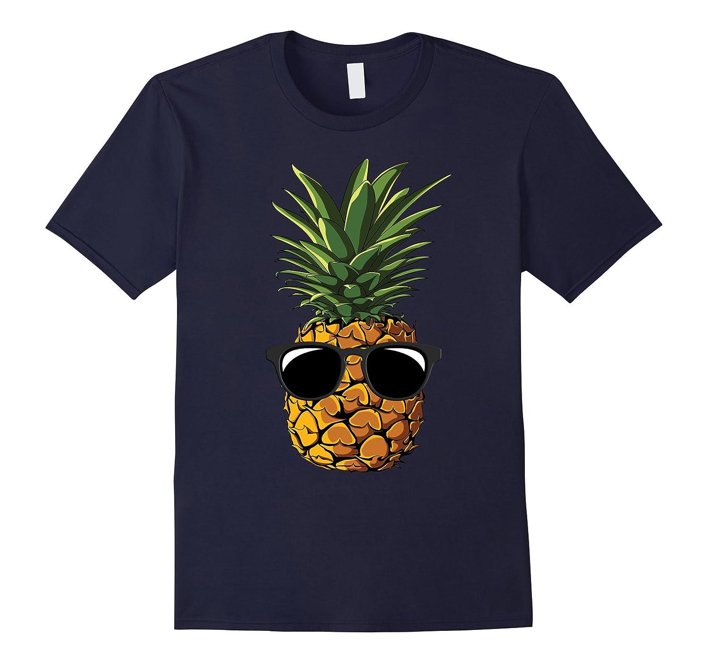 Pineapple Sunglasses Aloha Beaches Hawaii - Hawaiian T-shirt-T-Shirt