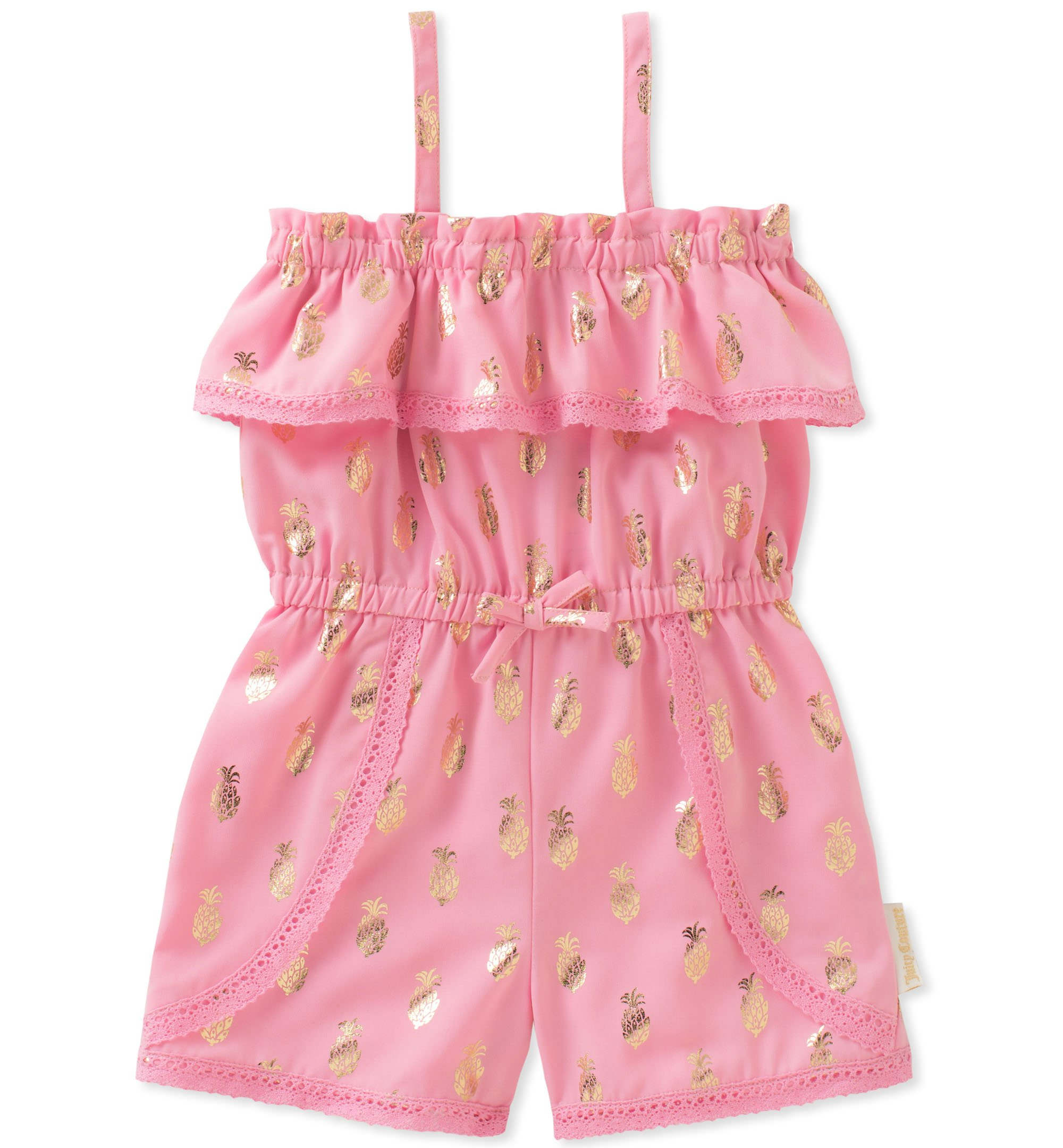 Juicy Couture Toddler Girls' Romper, Pink/Gold, 2T