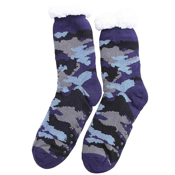 FERETI Azul Calcetines Casa Hombre Camouflage Multicam Grueso Forrada Térmicos Forro Camo: Amazon.es: Ropa y accesorios