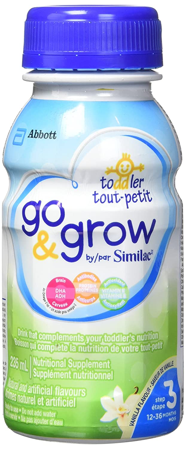 Similac Go & grow toddler drink, vanilla ready to feed bottles, 6 Count YES